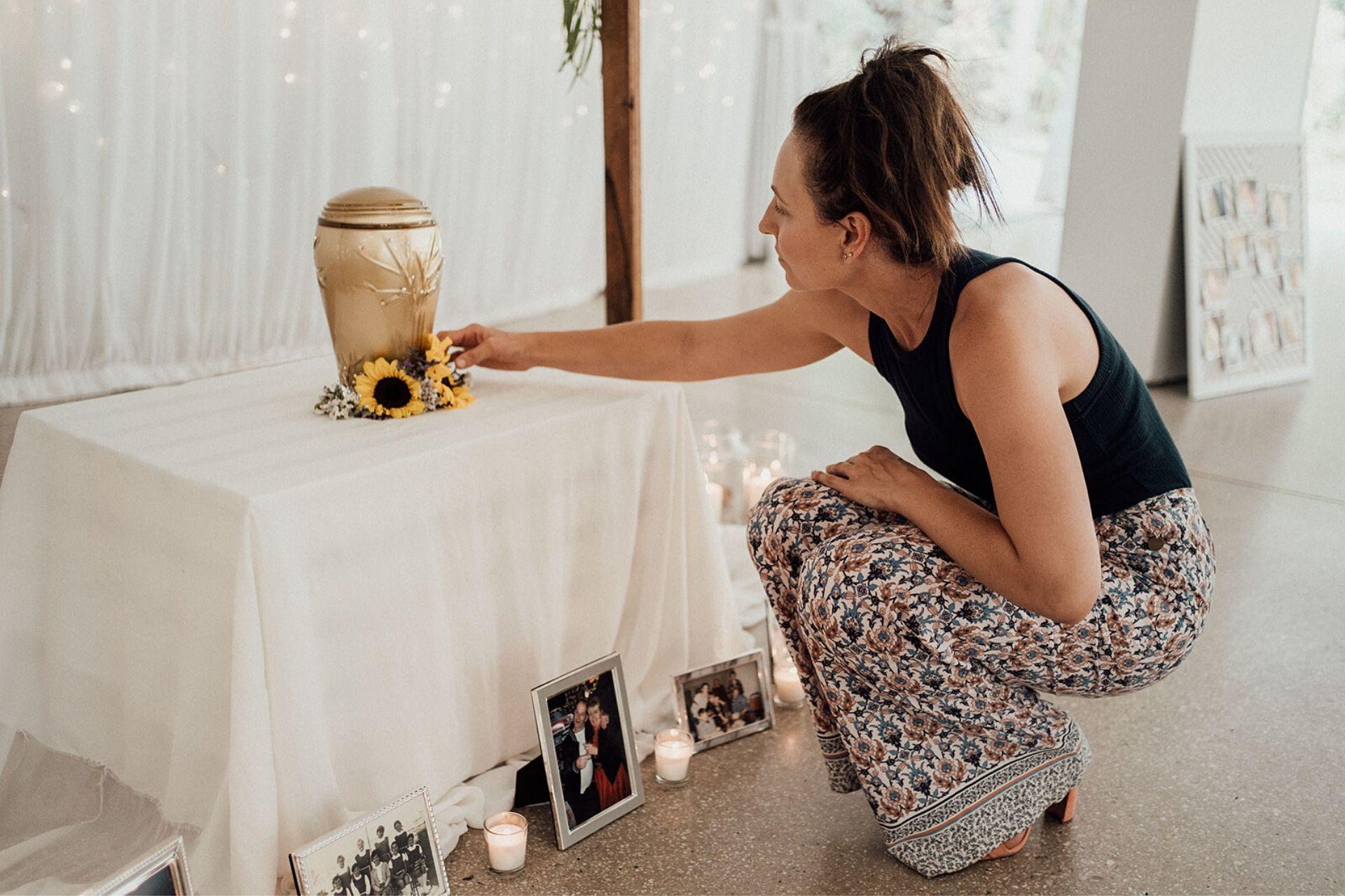 Funeral Celebrant showing tears
