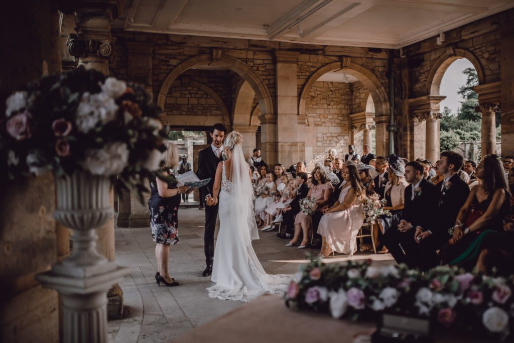 Wedding ceremony in wedding castle
