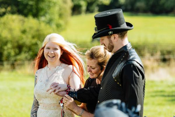 Debbie and Alex Alcott Wedding Handfasting small