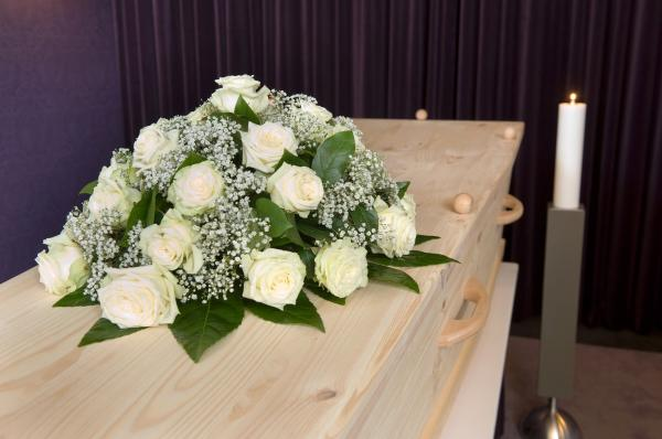 bigstock Flower Arrangement On Coffin 46309755