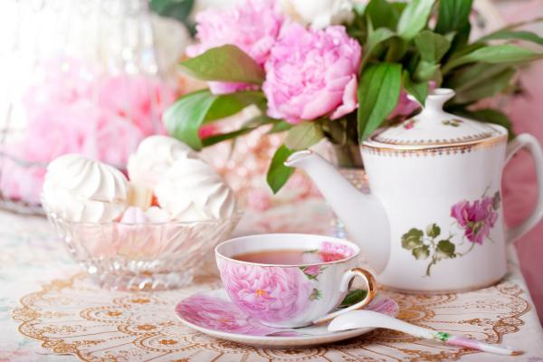 bigstock Tea in the Shabby Chic style 40179196