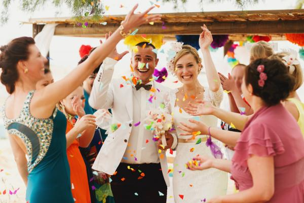 Confetti or rice not for you? Try out these wedding exit ideas!