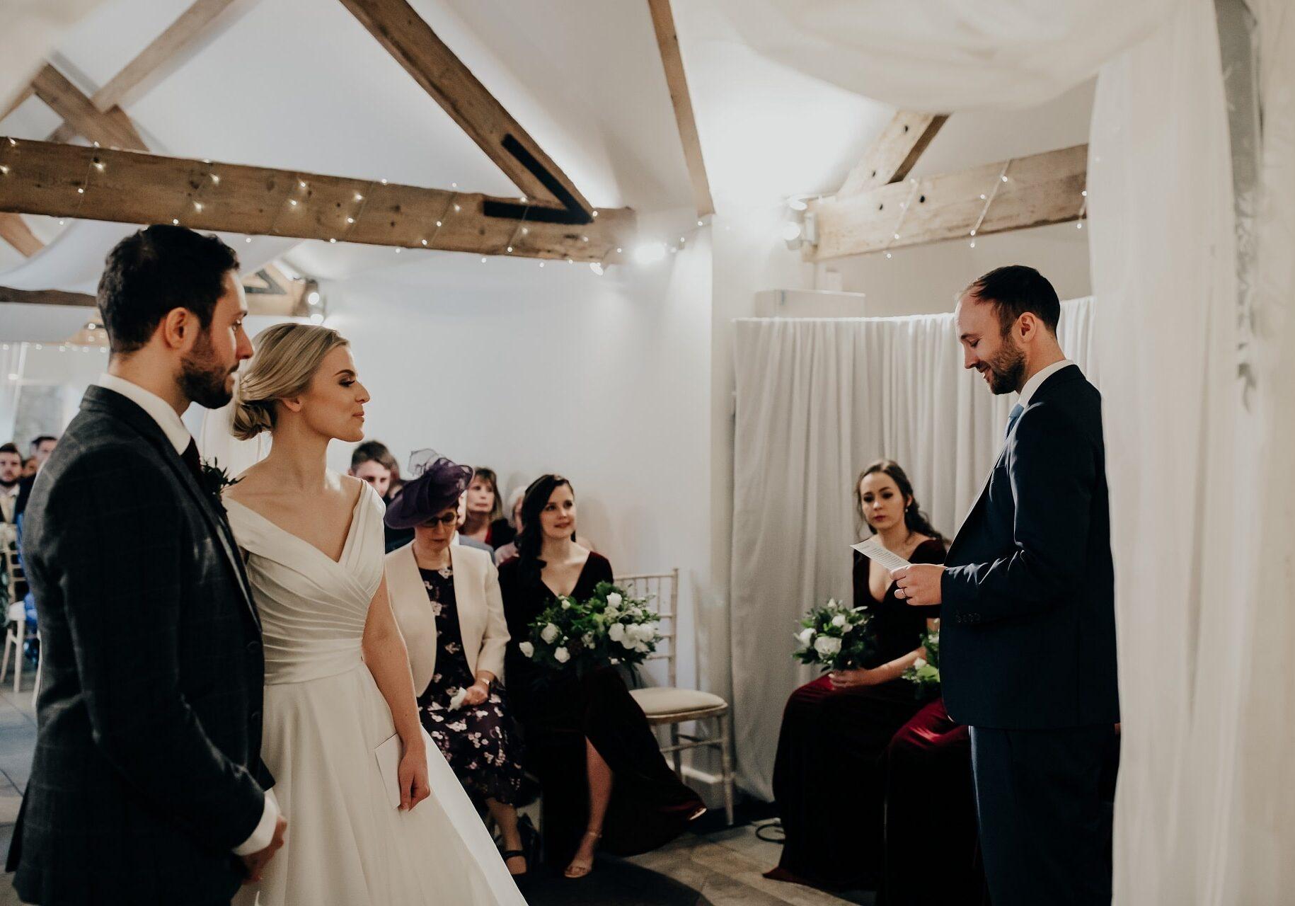 Speak at wedding