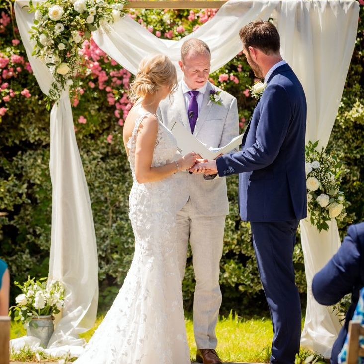Sheffield Wedding Celebrant David Willis with Raven and Ant