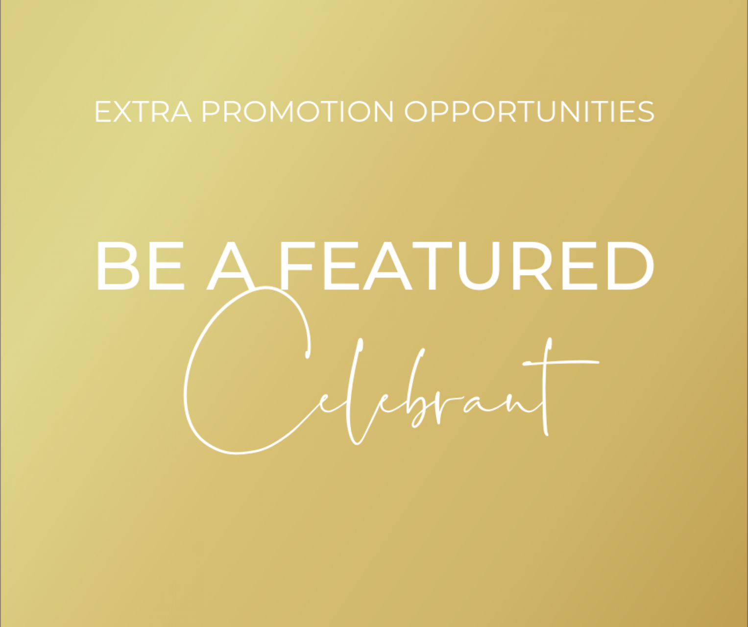 Become a Featured Celebrant